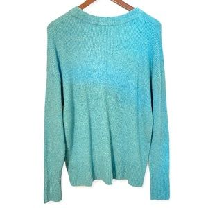 Something Navy Light teal Blue Confetti Sweater